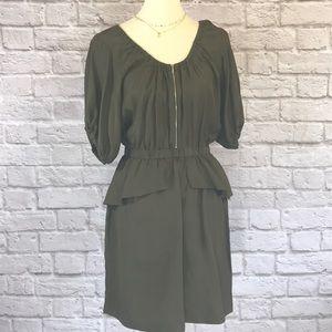 Rebecca Taylor olive Silk dress, 4
